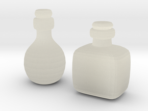 Bottles (2x) in Transparent Acrylic