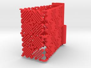 Ruff Style 1 (One Segment) in Red Processed Versatile Plastic