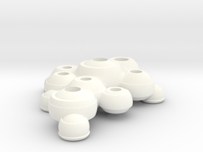 Useful Pots 2 in White Processed Versatile Plastic