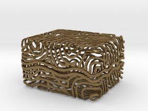 Abstract Keepsake Box in Natural Bronze