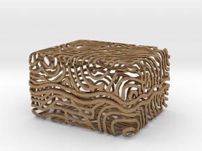 Abstract Keepsake Box in Natural Brass