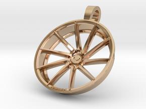 Vossen CVT Flat KeyChain 35mm  in 14k Rose Gold Plated Brass