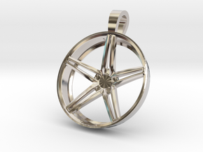 Vossen CV5 Flat Key Chain 35mm  in Rhodium Plated Brass