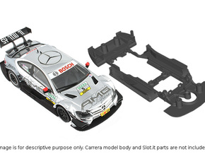 S03-ST4 Chassis for Carrera Merc. DTM SSD/STD in White Strong & Flexible