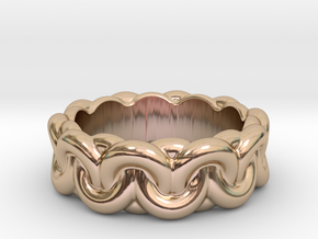 Chain Of Love 19 - Italian Size 19 in 14k Rose Gold Plated Brass