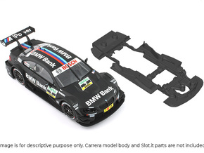 S02-ST4 Chassis for Carrera BMW M3 DTM SSD/STD in Black Strong & Flexible