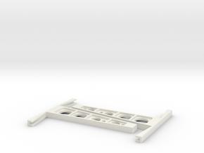 Glass rack 1:50 in White Natural Versatile Plastic