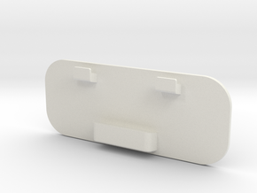 Universal Blank in White Natural Versatile Plastic