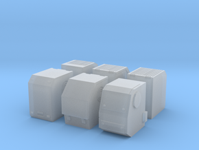 1/87th Truck Auxiliary Power Unit APU set of 6 in Smooth Fine Detail Plastic
