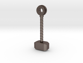 Thor's Hammer in Polished Bronzed Silver Steel