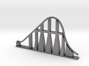 Millennium Force Roller Coaster in Polished Nickel Steel