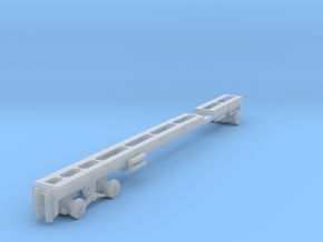 1/50th long Oilfield bed heavy truck frame in Smooth Fine Detail Plastic