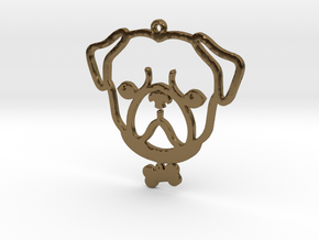 Hugs and Pugs in Polished Bronze