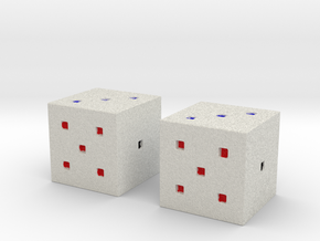 Minecraft Colored DIce in Full Color Sandstone
