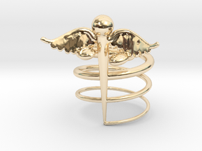 Caduceus Ring (size 9) in 14K Yellow Gold