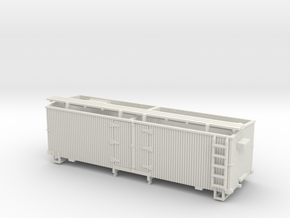 HOn3 25ft Reefer (without hatches) in White Natural Versatile Plastic