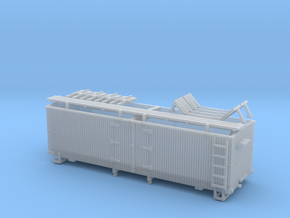 HOn3 25ft Reefer, with roof hatches in Smooth Fine Detail Plastic