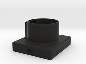 RollAufnahme2Achs in Black Natural Versatile Plastic