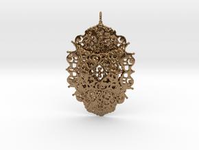 Yantra Pendant in Natural Brass