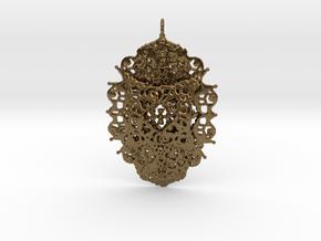 Yantra Pendant in Natural Bronze