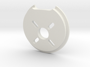 Ranger EX Motor Mount (pitch 4°, yaw 2°) in White Natural Versatile Plastic