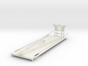 1/50th Heavy Oilfield Gin Pole Truck Bed in White Natural Versatile Plastic