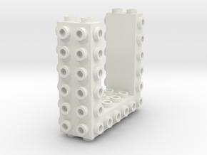 Core Brick 6x2x2 - Beta 01 - Mold in White Natural Versatile Plastic