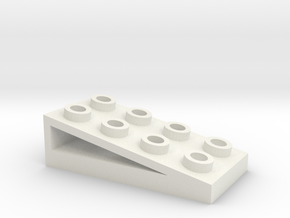 2x4 Ramp in White Natural Versatile Plastic