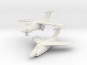 Grumman XF10F Jaguar (2 airplanes set) 1/285 6mm in White Natural Versatile Plastic