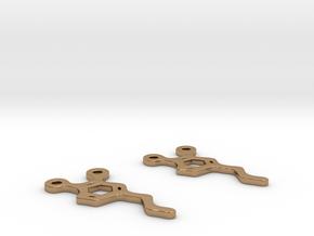 Dopamine Earrings in Polished Brass