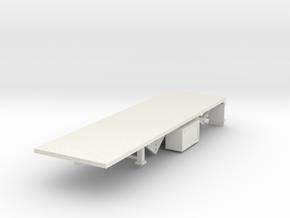 000115 Flatbed Trailer HO 1:87 Type B in White Natural Versatile Plastic
