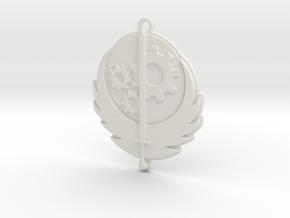 Brotherhood of Steel pendant in White Natural Versatile Plastic