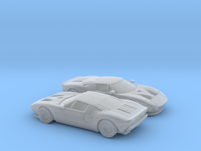 1/160 2X 2004-06 FORD GT in Smooth Fine Detail Plastic