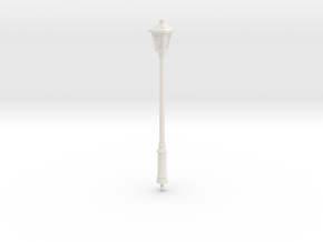 Street Lamp 01. Scale 1:24 in White Natural Versatile Plastic