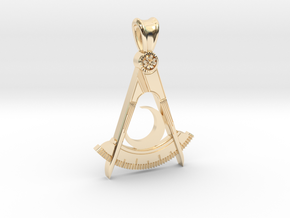 (small) DISTRICT DEPUTY PENDANT in 14K Yellow Gold