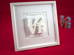 Love Is All You Need_II in White Strong & Flexible