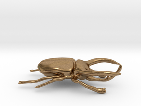 Atlas Beetle figurine/brooch in Natural Brass