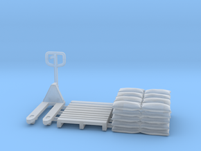 Pallet jack 01.HO Scale (1:87) in Smooth Fine Detail Plastic