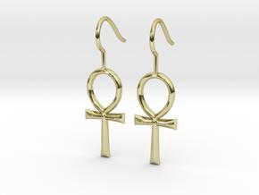 Ankh Earrings in 18k Gold