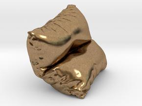 Mini Cushion in Natural Brass