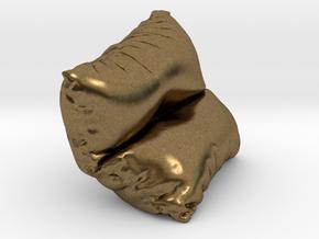 Mini Cushion in Natural Bronze