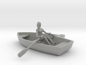 Row Boat #2 - HO 87:1 Scale in Metallic Plastic