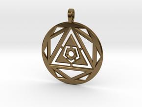 SPACE VORTEX in Polished Bronze
