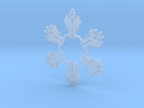 Snowflake Starscream Ornament  in Smooth Fine Detail Plastic