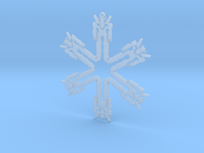 Snowflake Lion Force Ornament  in Smooth Fine Detail Plastic