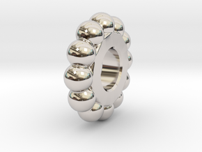 Mr Tambourine Man - Ball Spacer in Rhodium Plated Brass