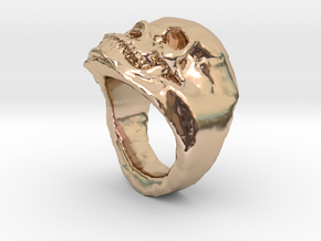 The real Skull Ring (size 9) in 14k Rose Gold Plated Brass