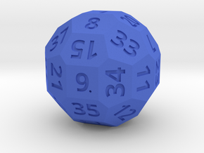 3cm Numbered D38 in Blue Processed Versatile Plastic