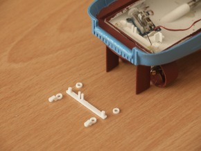 MV Anticosti, Rudder Mechanism (RC, 1:200) in White Natural Versatile Plastic