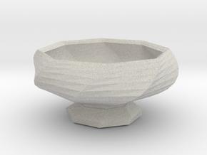Sake Cup 01 in Full Color Sandstone